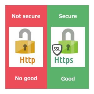 HTTPS:Secure HTTP:Not secure