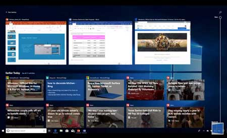 "Windows 10 April 2018 Update ""Timeline"""