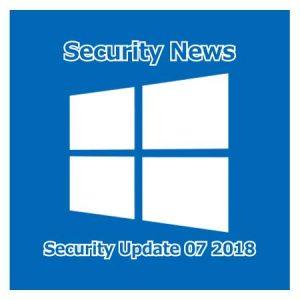 2018年7月のセキュリティ更新
