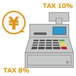 レジでの消費税率