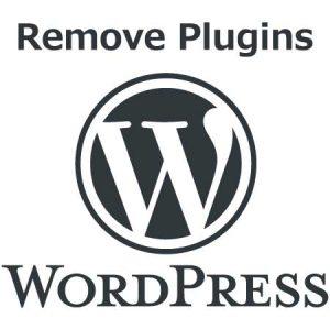 WordPressのプラグインを外す